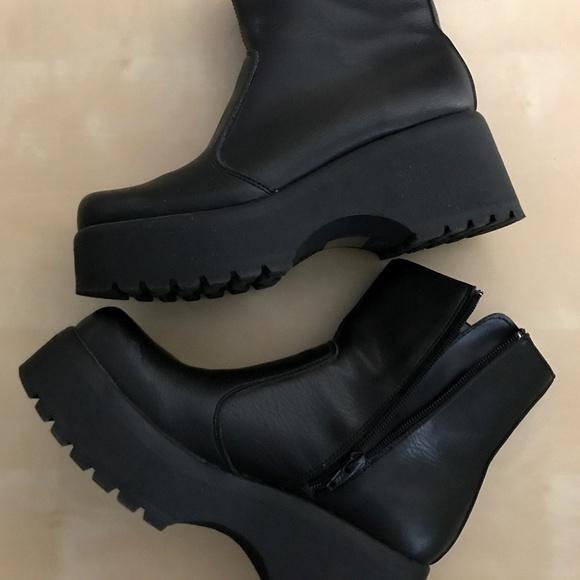 sleek for whole family innovative design LOWER EAST SIDE Shoes | Vegan Women Platform Boots Black Size 8 ...